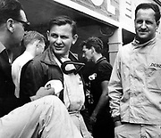 Bruce McLaren and Denny Hulme, Rheims Grand Prix, Archive, Motorsport. Photo: PHOTOSPORT