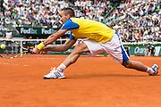 Paris, France. Roland Garros. June 2nd 2013.<br /> Serbian player Viktor TROICKI against Jo-Wilfried TSONGA