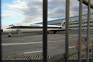 """Rome, Italy 23/01/2006: airplane of the Italian airline company """"Alitalia"""", Fiumicino Airport """"Leonardo da Vinci"""".©Andrea Sabbadini"""