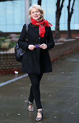 """Former Pans People dancer Patricia """"Dee Dee"""" Wilde arriving as a witness at the Dave Lee Travis trial at Southwark Crown Court , Wednesday, 5th February 2014. Picture by Stephen Lock / i-Images"""