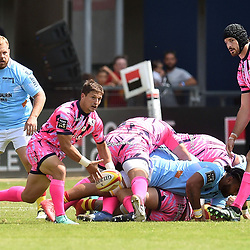 Petrus Van Zyl of Paris during Top 14 match between Perpignan and Stade Francais on August 25, 2018 in Perpignan, France. (Photo by Alexandre Dimou/Icon Sport)