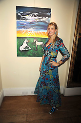Artist SARAH-JANE BOLER at an exhibition of her paintings entitled 'Life on The Farm' held at The Troubadour, 265 Old Brompton Road, London on 27th November 2008.