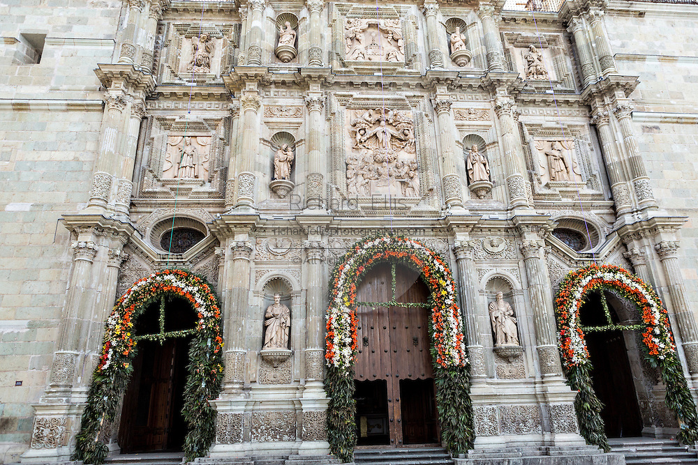 Cathedral of Our Lady of the Assumption in the historic district Oaxaca, Mexico.