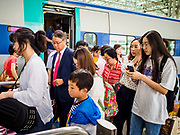 SEOUL, SOUTH KOREA: People get off a high speed train at Seoul Station, the largest train station in South Korea.   PHOTO BY JACK KURTZ