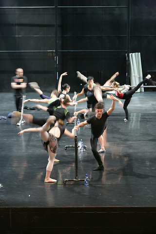 Dancers of The Royal New Zealand Ballet rehearse at the St James Theatre in Wellington, New Zealand.
