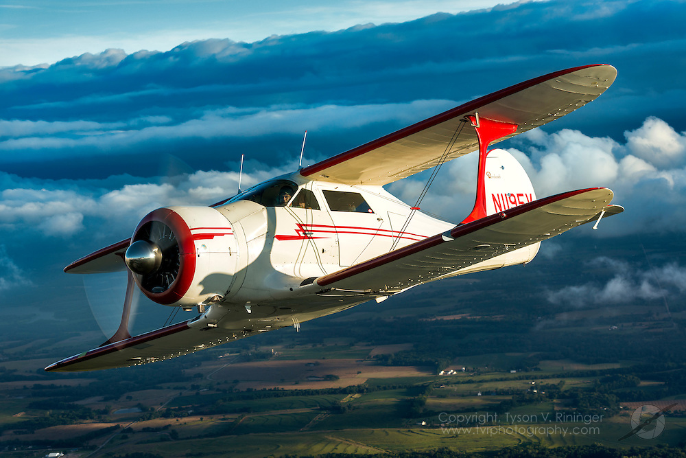 Beech Staggering flown and owned by Scott Glover. Photo Pilot, Matt Bongers