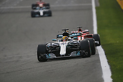 August 27, 2017 - Francorchamps, Belgium - LEWIS HAMILTON of Great Britain and Mercedes AMG Petronas F1 Team drives during the 2017 Formula 1 Belgian Grand Prix in Francorchamps, Belgium. (Credit Image: © James Gasperotti via ZUMA Wire)