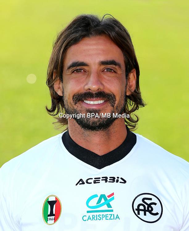 Italian League Serie B -2016-2017 / <br /> ( Spezia Calcio 1906 ) - <br /> Pablo Granoche Louro