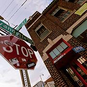 Corner of 18th & Wyandotte Street, downtown Kansas City, MO.