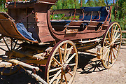 Stagecoach at the Borax Museum at Furnace Creek Ranch, Death Valley National Park. California