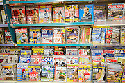 Display racks of UK consumer magazines