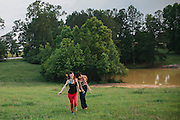 Amber, Julia and Lucas in Palmetto, Georgia.