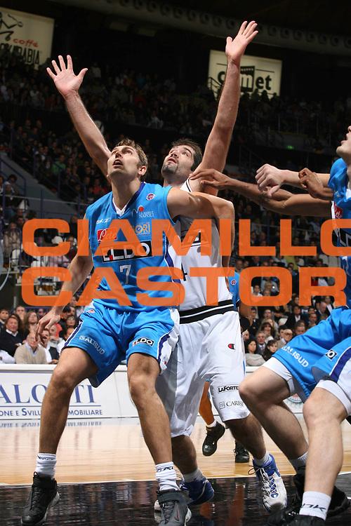 DESCRIZIONE : Bologna Lega A1 2007-08 La Fortezza Virtus Bologna Eldo Napoli<br /> GIOCATORE : Miroslav Raicevic<br /> SQUADRA : Eldo Napoli<br /> EVENTO : Campionato Lega A1 2007-2008 <br /> GARA : La Fortezza Virtus Bologna Eldo Napoli<br /> DATA : 21/10/2007 <br /> CATEGORIA : Rimbalzo<br /> SPORT : Pallacanestro <br /> AUTORE : Agenzia Ciamillo-Castoria/M.Marchi