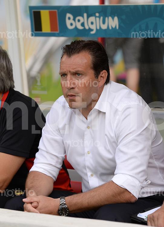 FUSSBALL WM 2014  VORRUNDE    Gruppe H     Belgien - Algerien                       17.06.2014 Trainer Marc Willmots (Belgien)