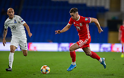 CARDIFF, WALES - Friday, September 6, 2019: Wales' Tom Lawrence during the UEFA Euro 2020 Qualifying Group E match between Wales and Azerbaijan at the Cardiff City Stadium. (Pic by Mark Hawkins/Propaganda)