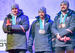 27.02.2018, Salzburg, AUT, PyeongChang 2018, ÖOC Medaillenfeier, im Bild v.l.: Peter Penz, Georg Fischler, David Gleirscher // during a ÖOC medal celebration Party after the Olympic Winter Games Pyeongchang 2018 in Salzburg, Austria on 2018/02/27. EXPA Pictures © 2018, PhotoCredit: EXPA/ JFK