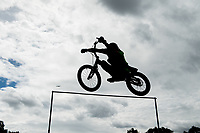 Stunt cyclist Rick Koekoek attempts to break a Guinness World Record in the London Trials Championships, presented by Buxton, at this year's Prudential RideLondon FreeCycle 29/07/2017<br /> <br /> Photo: Tom Lovelock/Silverhub for Prudential RideLondon<br /> <br /> Prudential RideLondon is the world's greatest festival of cycling, involving 100,000+ cyclists – from Olympic champions to a free family fun ride - riding in events over closed roads in London and Surrey over the weekend of 28th to 30th July 2017. <br /> <br /> See www.PrudentialRideLondon.co.uk for more.<br /> <br /> For further information: media@londonmarathonevents.co.uk