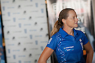 Linda O'Connor  (AUS). Team PureSport Launch. 2012 Geelong Multi Sport Festival. Eastern Beach, Geelong, Victoria, Australia. 11/02/2012. Photo By Lucas Wroe