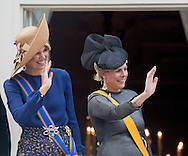 The Hague , 20-09-2016<br /> <br /> Opening parliamentary year of The Netherlands .<br /> <br /> <br /> King Willem-Alexander and Queen Maxima and Prince Constantijn and Princess Laurentien on the balcony of Noordeinde Palace.<br /> <br /> <br /> Royalportraits Europe/Bernard Ruebsamen