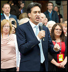 SEP 20 2014 Labour Leader Ed Miliband arriving at Labour Party Conference