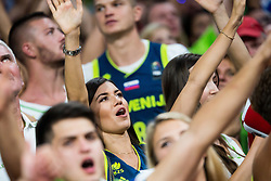 Girlfriend of Edo Muric of Slovenia and his brother Dino Muric during the Final basketball match between National Teams  Slovenia and Serbia at Day 18 of the FIBA EuroBasket 2017 at Sinan Erdem Dome in Istanbul, Turkey on September 17, 2017. Photo by Vid Ponikvar / Sportida