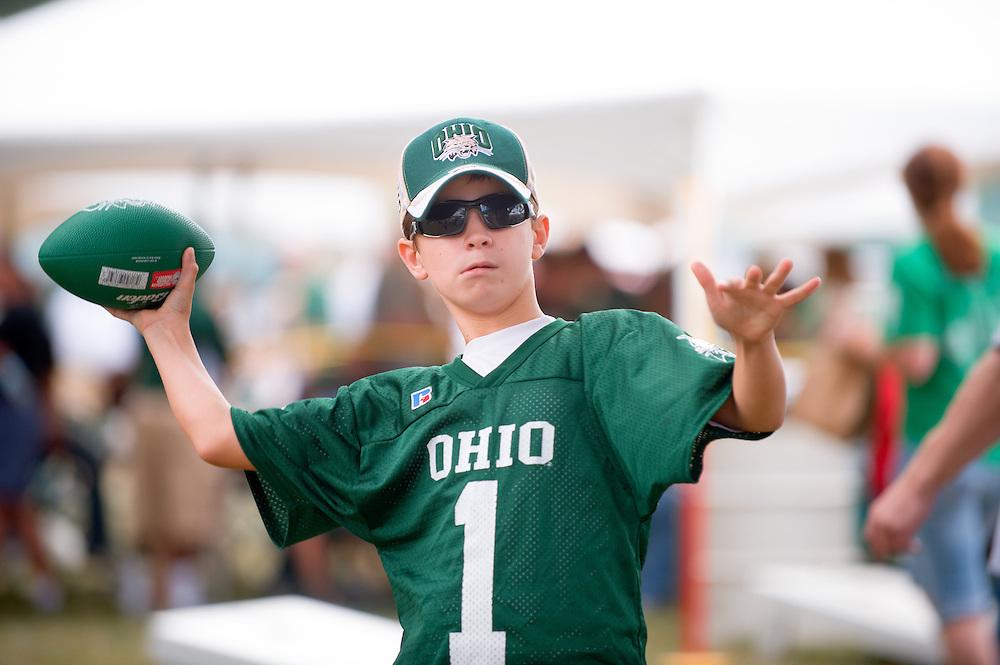 19058Homecoming 2008: Football Game OHIO vs. Virginia Military Institute..Tailgreat Park:..  Jordan Moseley