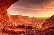 Evening light on False Kiva, Island in the Sky, Canyonlands National Park, Utah