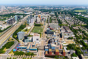 Nederland, Noord-Holland, Amsterdam-Buitenveldert, 29-06-2018; Kenniskwartier Zuid-as met Campus van de Vrije Universiteit VU en VU Medisch Centrum (VUMC), onderdeel Amsterdam UMC- lokatieVUmc.<br /> University VU campus and medical centre, university hospital.<br /> <br /> luchtfoto (toeslag op standard tarieven);<br /> aerial photo (additional fee required);<br /> copyright foto/photo Siebe Swart