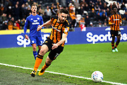 Hull City midfielder Jon Toral (11)  during the EFL Sky Bet Championship match between Hull City and Cardiff City at the KCOM Stadium, Kingston upon Hull, England on 28 April 2018. Picture by Mick Atkins.
