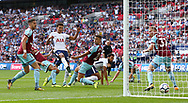 Dele Alli of Tottenham opens the scoring during the Premier League match between Tottenham Hotspur and Burnley at Wembley Stadium in London. 27 Aug 2017