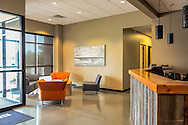 Brester Construction Reception area Photograph by premier Architectural Photographer Barry A Mosley in Lincoln, Nebraska.