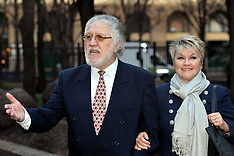 FEB 13 2014 Dave Lee Travis arrives at Southwark Court
