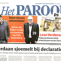 Parool, 22 augustus 2009.Twee nieuwe columnisten en Leon Verdonschot