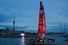 Auckland-Emirates Team New Zealand launch AC72 America's Cup catamaran