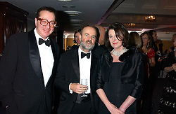 Left to right, LORD SAATCHI, IAN HISLOP and LADY SAATCHI at the 2005 Whitbread Book Awards 2005 held at The Brewery, Chiswell Street, London EC1 on 24th January 2006. The winner of the 2005 Book of the Year was Hilary Spurling for her biography 'Matisse the Master'.<br /><br />NON EXCLUSIVE - WORLD RIGHTS