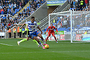 \Reading's Nick Blackman looks to attack the goal during the Sky Bet Championship match between Reading and Brighton and Hove Albion at the Madejski Stadium, Reading, England on 31 October 2015. Photo by Mark Davies.