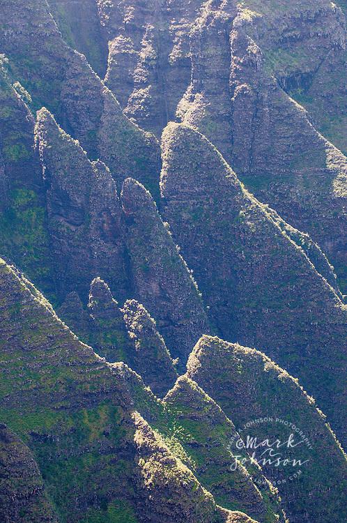 Steep cliffs at Awaawapuhi, Na Pali Coast, Kauai, Hawaii