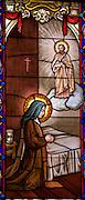 Therese praying to St. Joseph. (Sam Lucero photo)