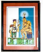 Cartoon in Cueto, Holguin, Cuba.