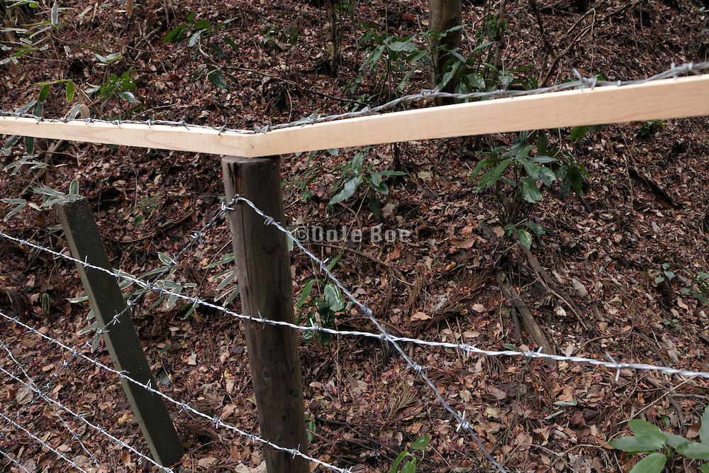 fence to protect the fragile nature