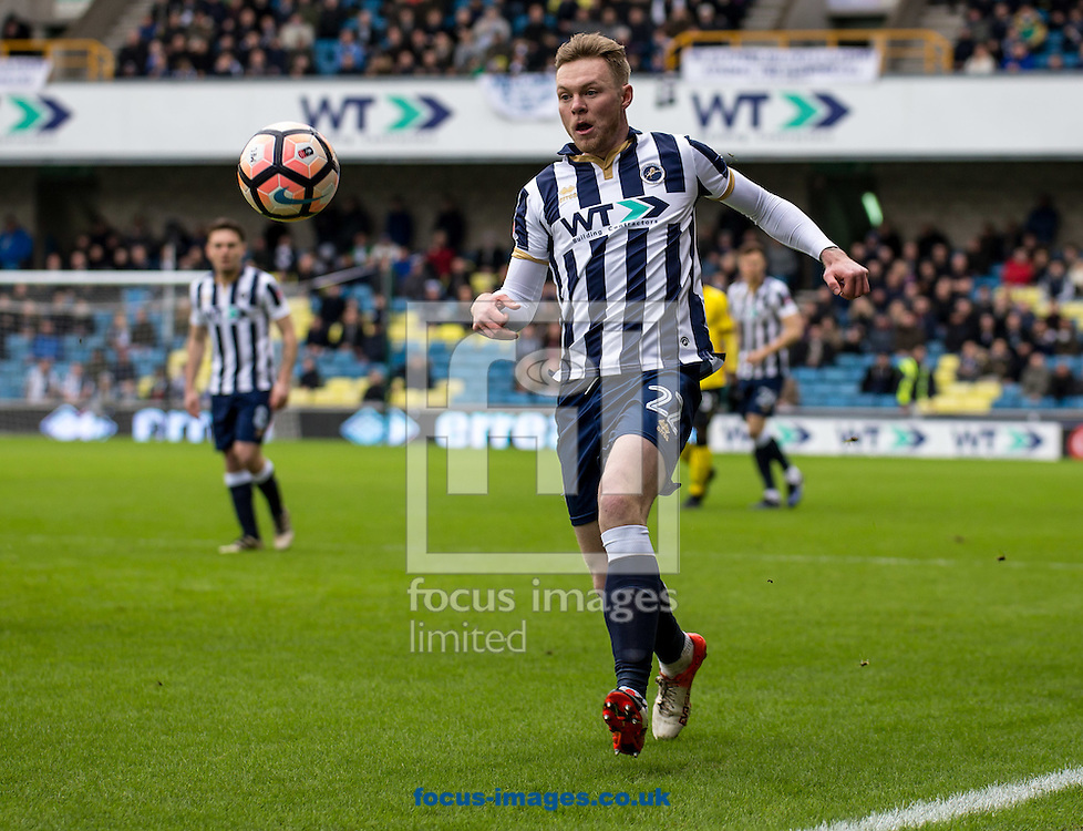 Aiden O'Brien of Millwall during the FA Cup match at The Den, London<br /> Picture by Liam McAvoy/Focus Images Ltd 07413 543156<br /> 29/01/2017