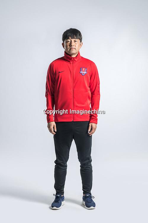 **EXCLUSIVE**Portrait of Chinese soccer player Cui Yongzhe of Chongqing Dangdai Lifan F.C. SWM Team for the 2018 Chinese Football Association Super League, in Chongqing, China, 27 February 2018.