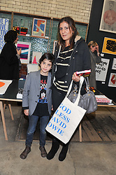 AZZI GLASSER and her son ZAC at the House of Voltaire pop up shop at 17A Adam's Row, London followed by a party at Sketch, Conduit Street, London on 20th November 2012.