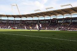 A general view of match action.Toulouse v Paris Saint Germain (1-3), Ligue 1, Stade Municipal, Toulouse, France, 28th August 2011.
