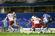 Callum O'Hare of Coventry City (17) flicks the ball on to set up a scoring chance during the EFL Sky Bet League 1 match between Coventry City and Rotherham United at the Trillion Trophy Stadium, Birmingham, England on 25 February 2020.