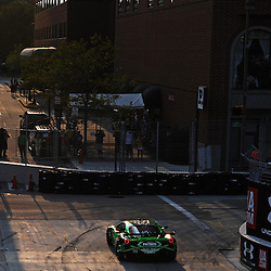 The ExtremeSpeed Ferrari 458 Italia of Ed Brown and Guy Cosmo during ther 2011 American LeMans Series Baltimore Grand Prix.