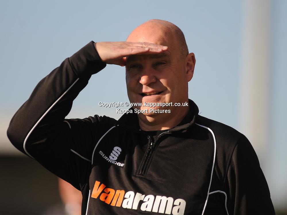 Richard Hill Manager, Eastleigh FC, Barnet v Eastleigh, Vanarama Conference, Saturday 4th October 2014