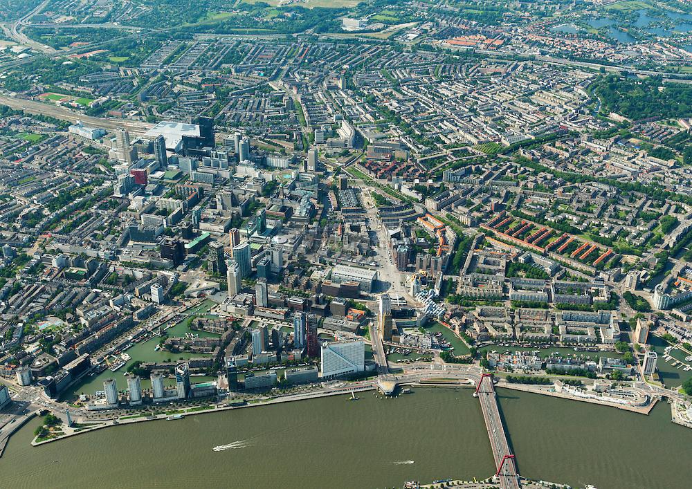 Stadsdriehoek van het centrum Rotterdam
