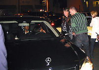 **EXCLUSIVE**.Lindsay Lohan & Justin Timberlake with his blond date, Bianca..Justin Timberlake at Sideways Restaurant, spent over an hour watching his own concert on his sidekick and sometimes showed to his blond date sitting next to him while ignoring his other friends sitting on his table..Fifteen minutes later he makes a stop at Les Deux Night Club. On his way out of the club he comes across Lindsay Lohan who was chauffeuring her male friend. When she got out of the car, looking very high and drunk, she opened the door for her friend who was sitting on the back sit of her Mercedes Benz..Hollywood, California, USA.Friday, February 16, 2007.Photo By Celebrityvibe.To license this image please call (212) 410 5354 ; or.Email: celebrityvibe@gmail.com ;.