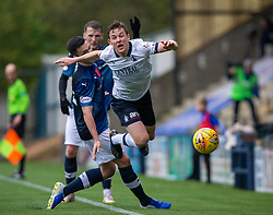 Falkirk's Paul Dixon tackled. Raith Rovers 2 v 2 Falkirk, Scottish Football League Division One played 5/9/2019 at Stark's Park, Kirkcaldy.